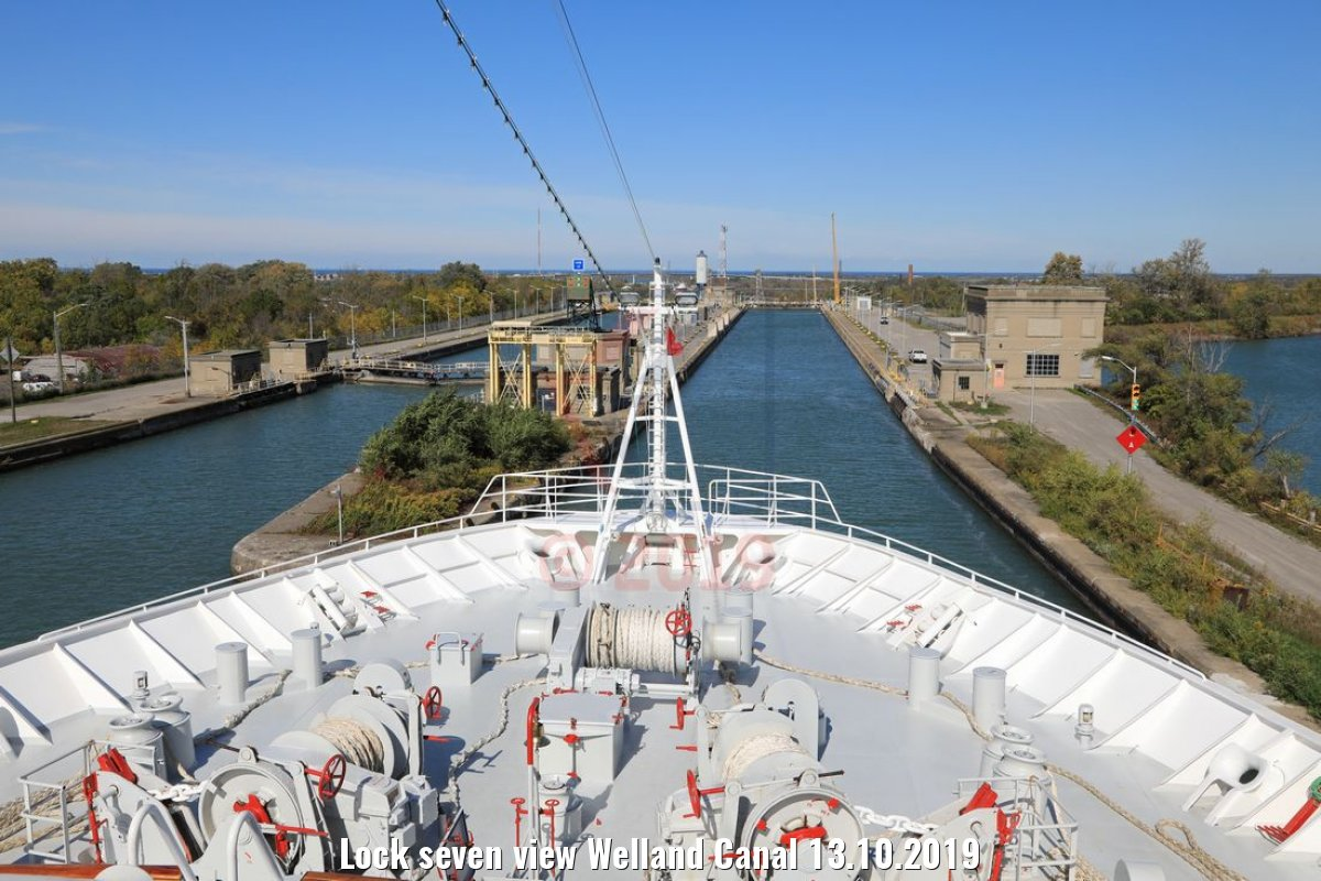 Lock seven view Welland Canal 13.10.2019