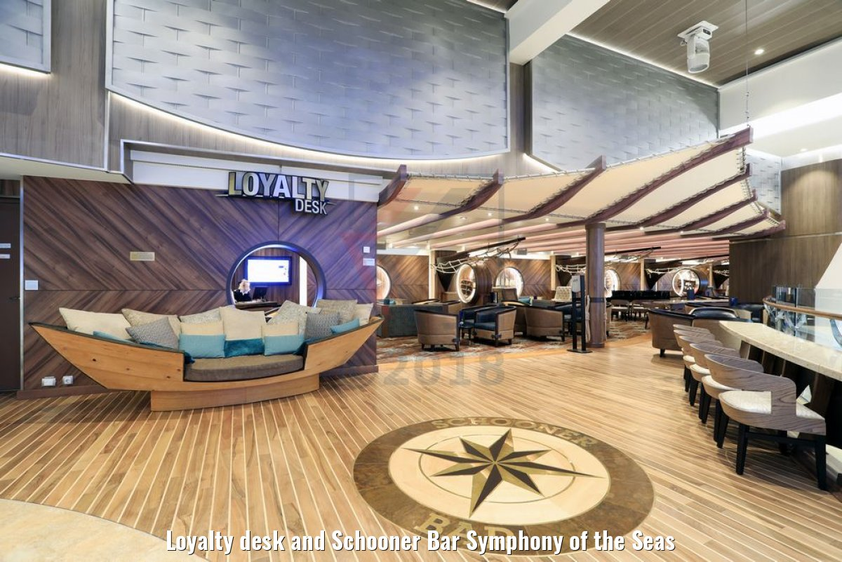 Loyalty desk and Schooner Bar Symphony of the Seas