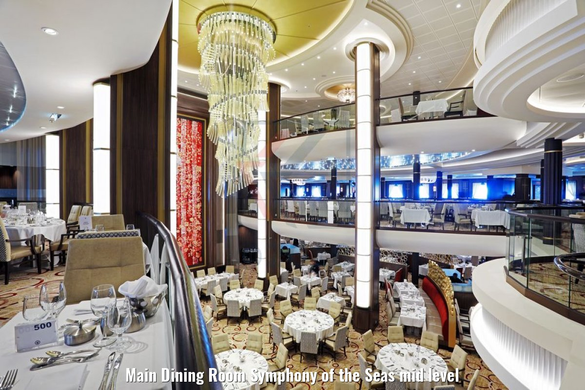 Main Dining Room Symphony of the Seas mid level