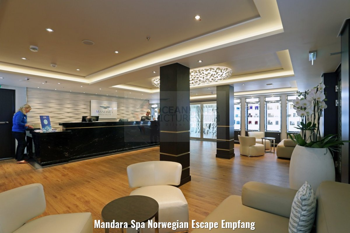Mandara Spa Norwegian Escape Empfang
