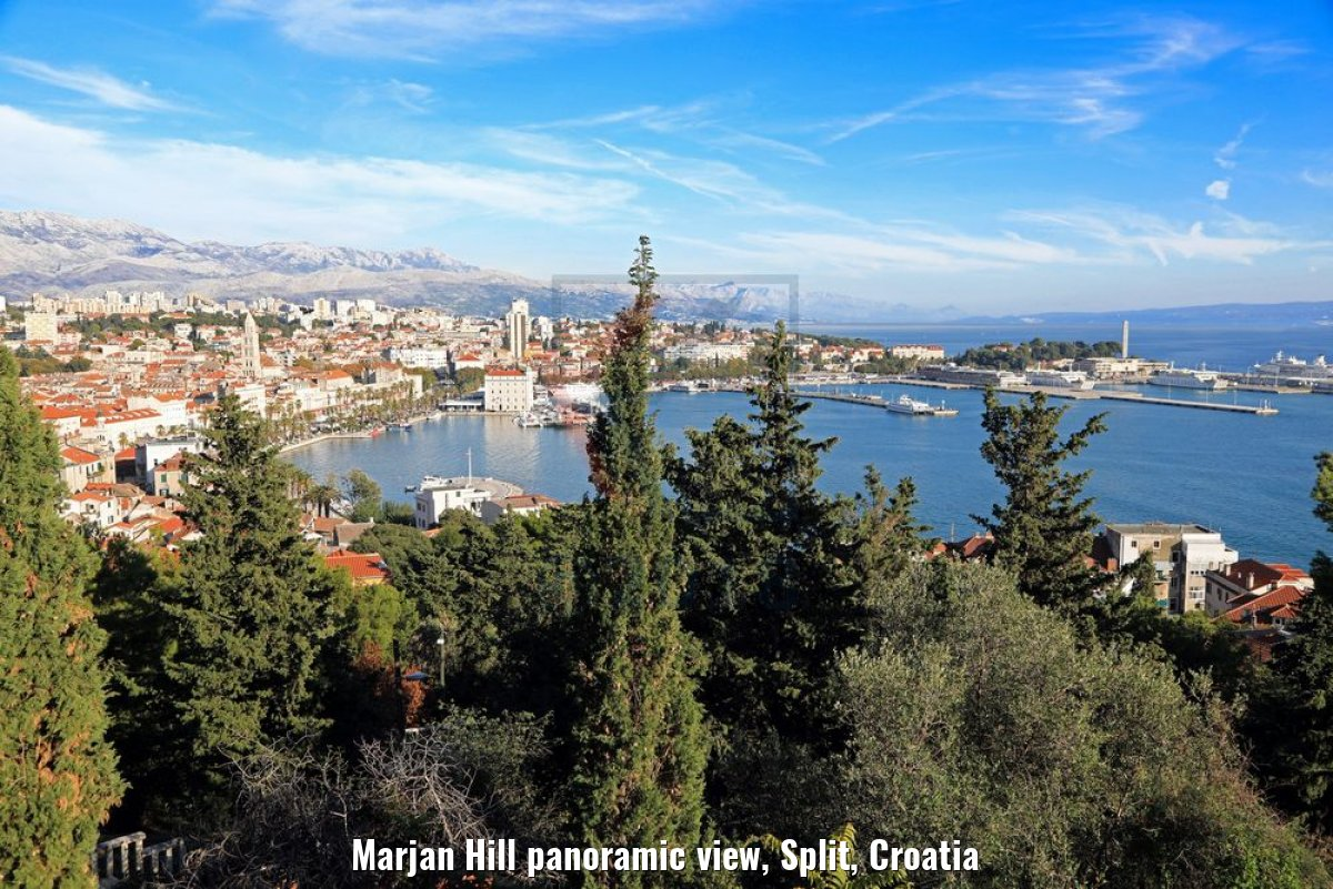 Marjan Hill panoramic view, Split, Croatia