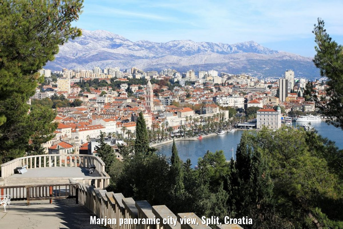 Marjan panoramic city view, Split, Croatia