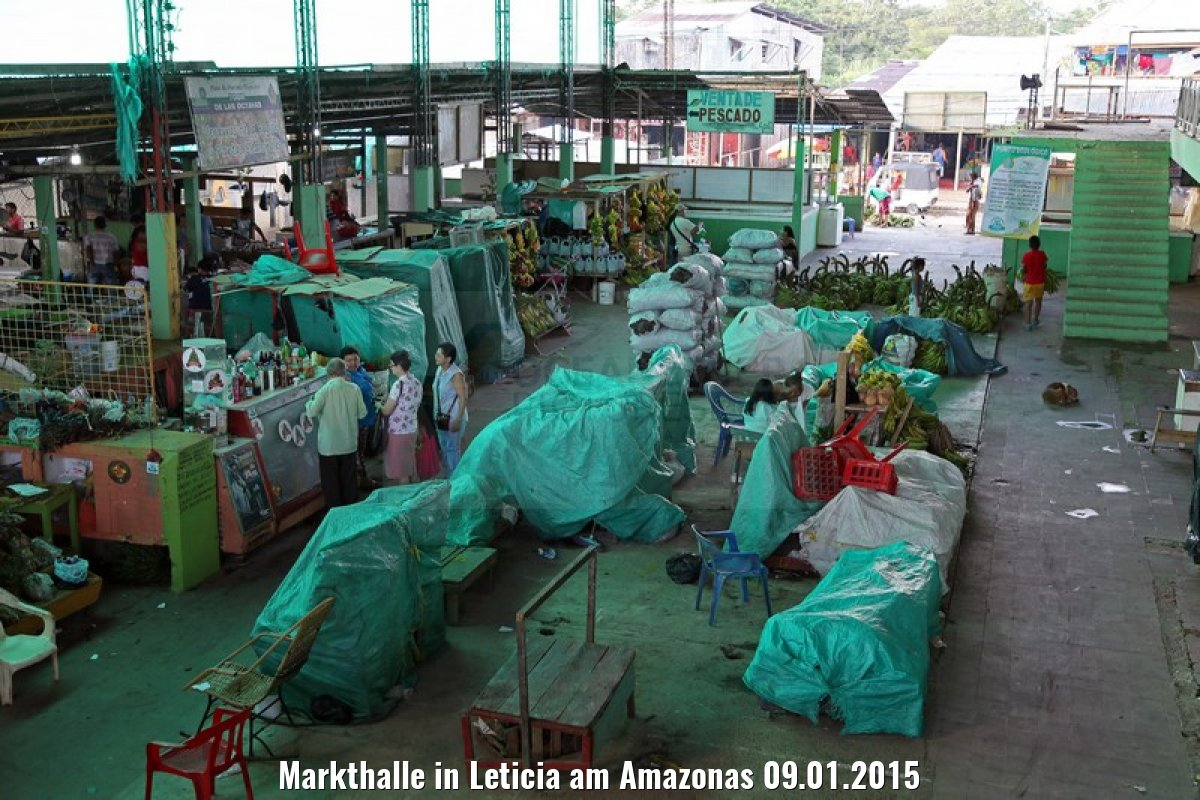 Markthalle in Leticia am Amazonas 09.01.2015