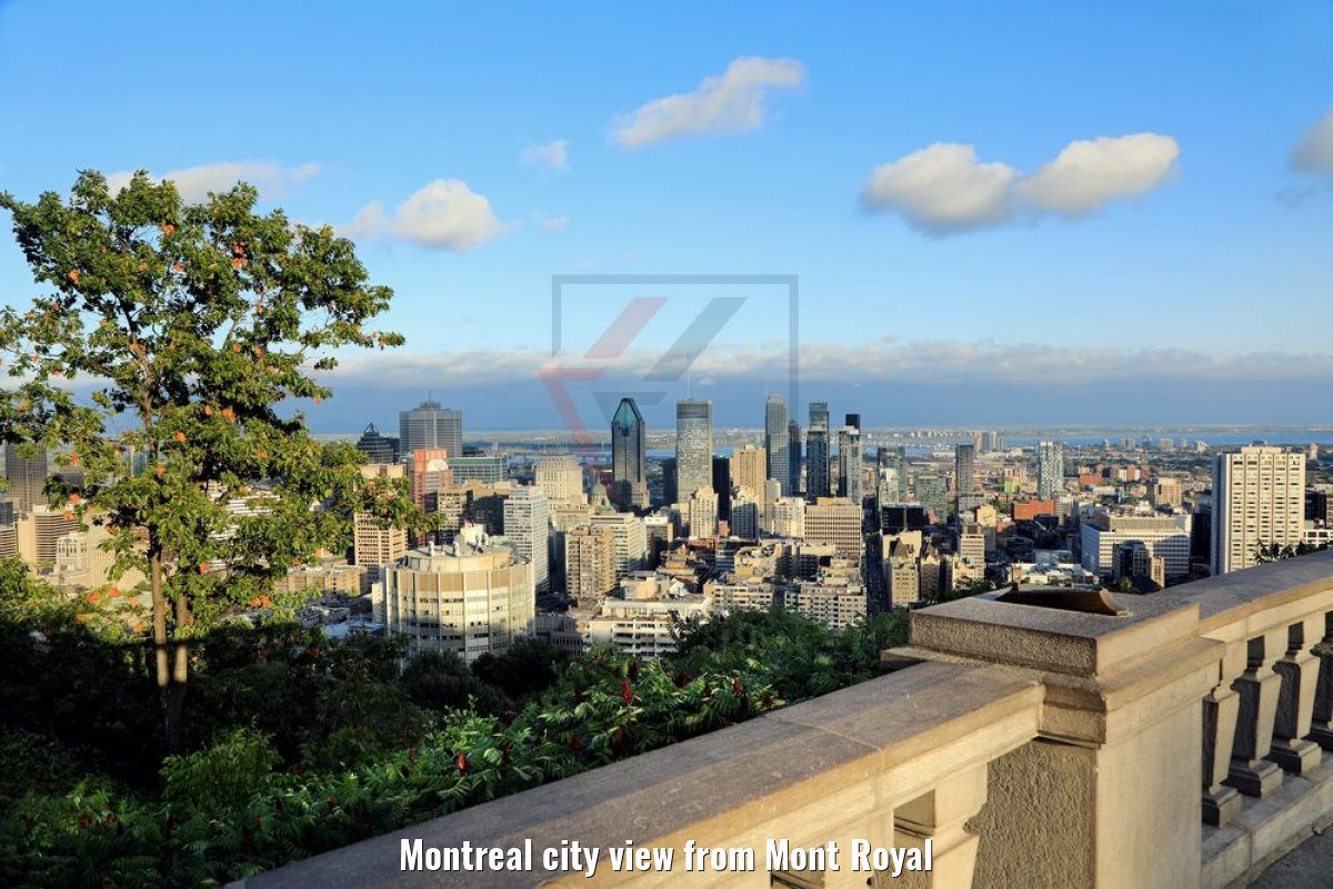 Montreal city view from Mont Royal