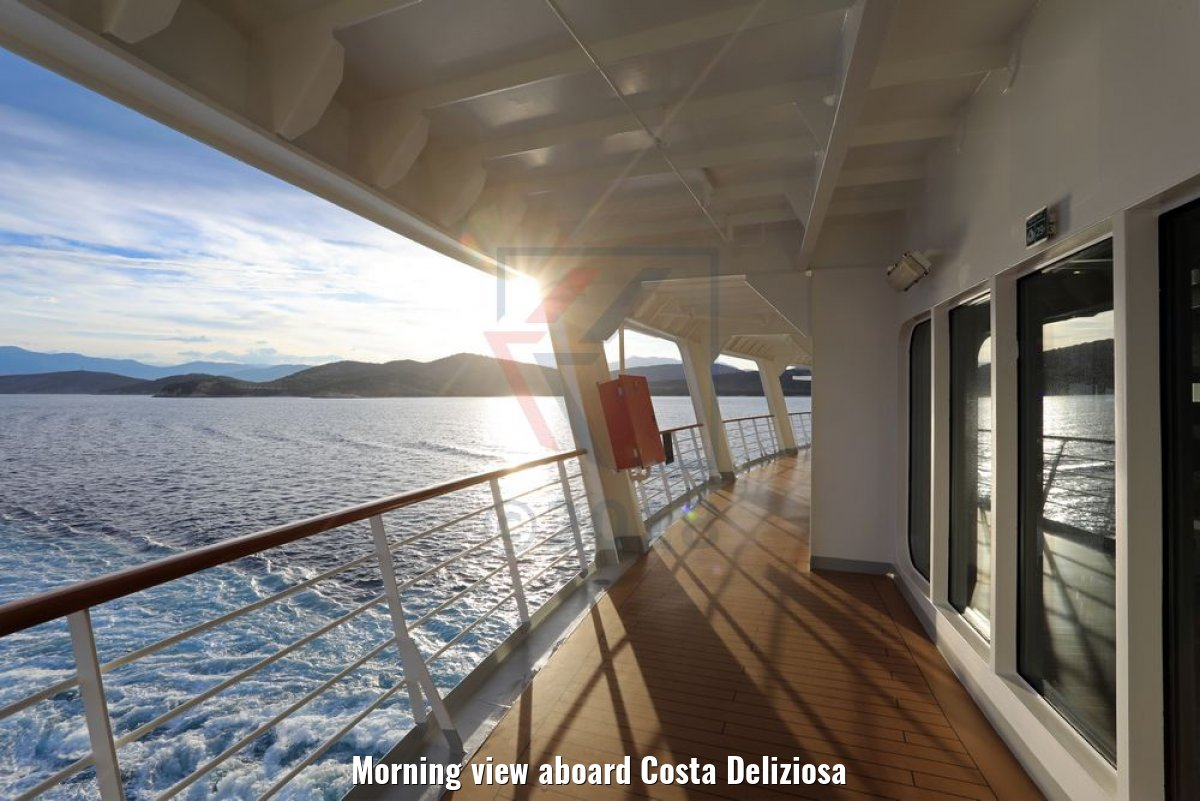 Morning view aboard Costa Deliziosa