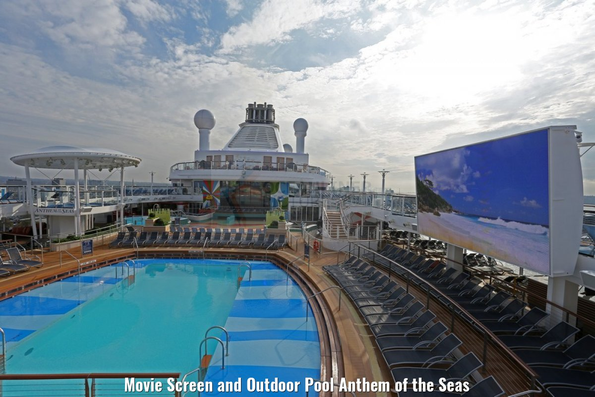 Movie Screen and Outdoor Pool Anthem of the Seas