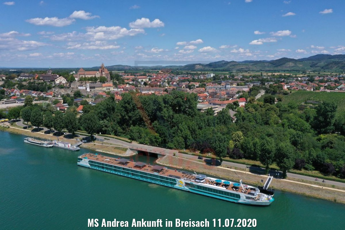 MS Andrea Ankunft in Breisach 11.07.2020