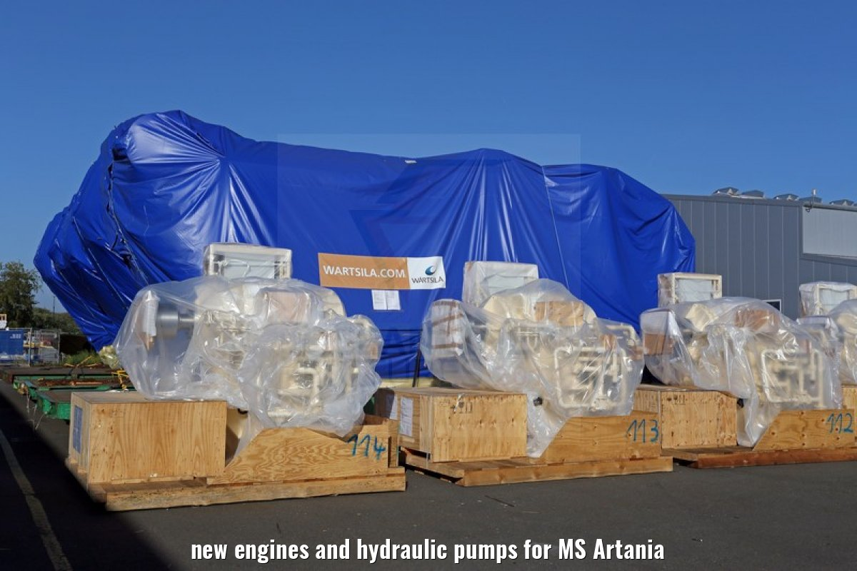 new engines and hydraulic pumps for MS Artania