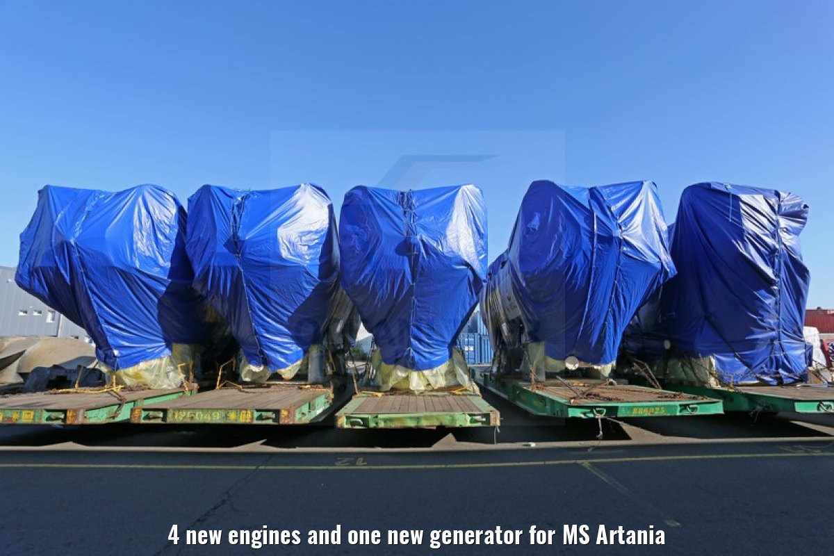 4 new engines and one new generator for MS Artania