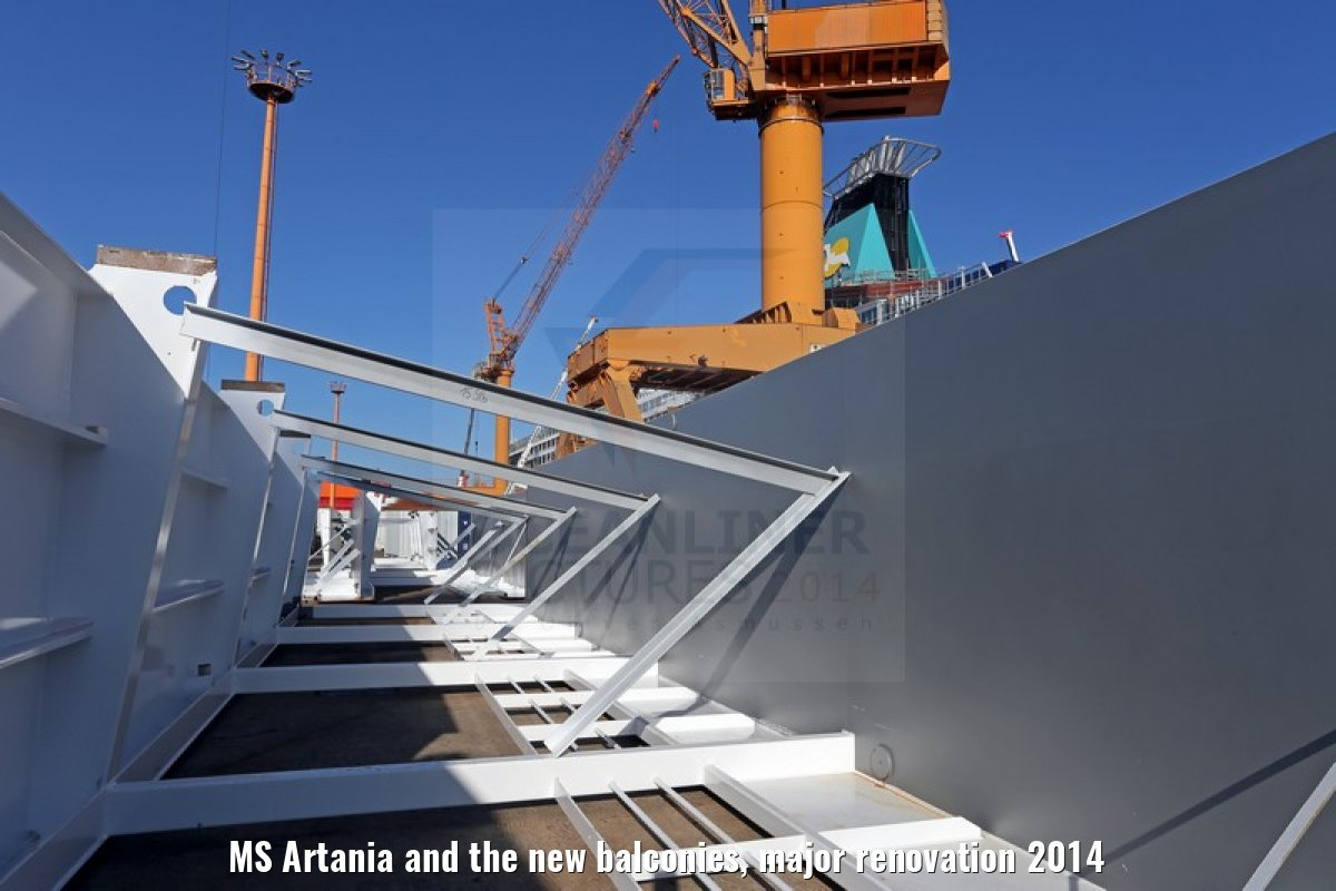MS Artania and the new balconies, major renovation 2014