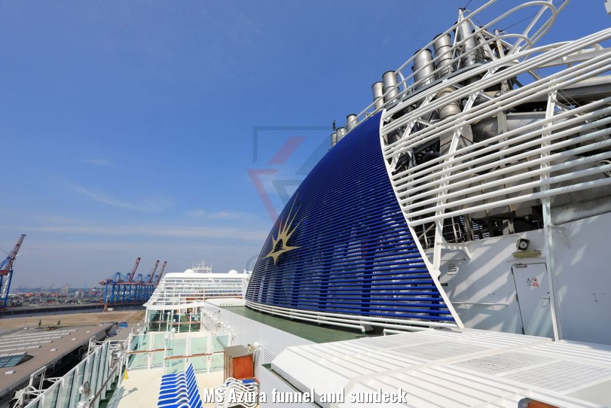 MS Azura funnel and sundeck