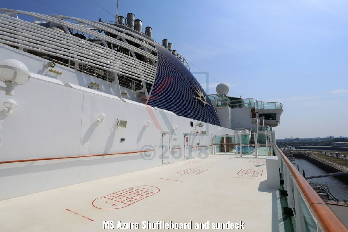 MS Azura Shuffleboard and sundeck
