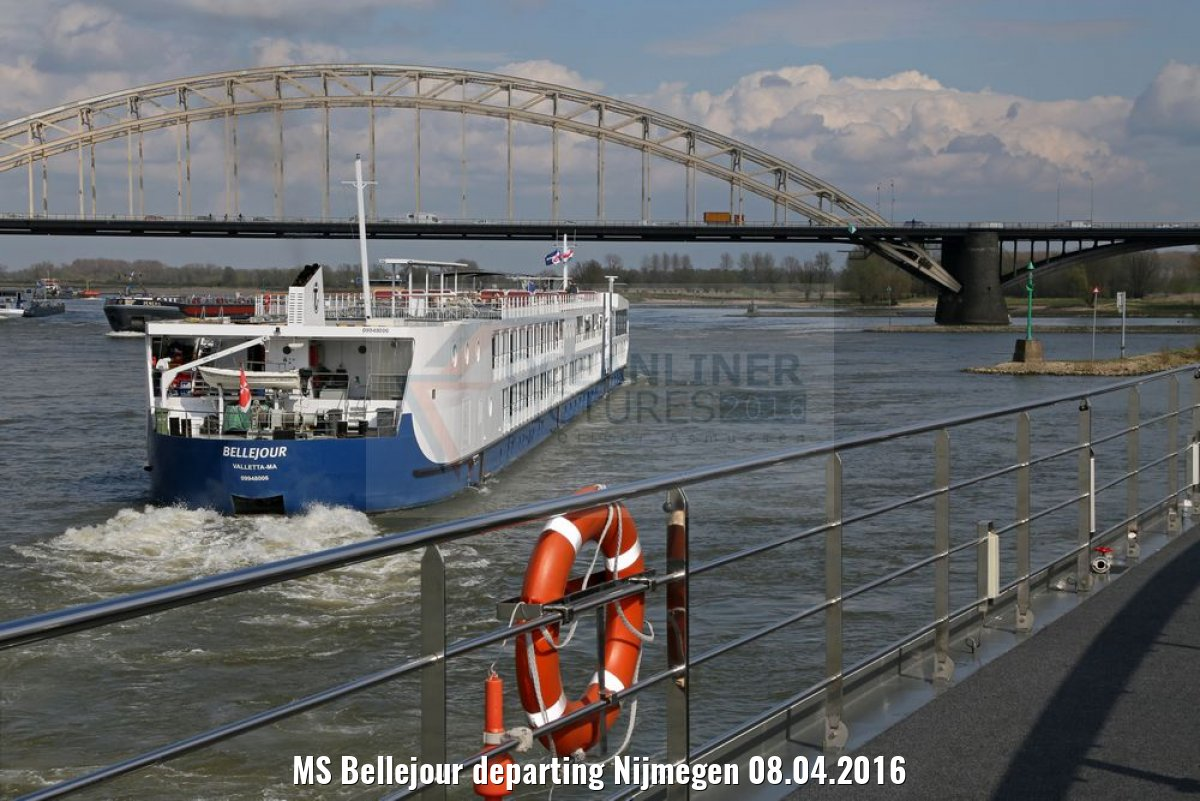 MS Bellejour departing Nijmegen 08.04.2016