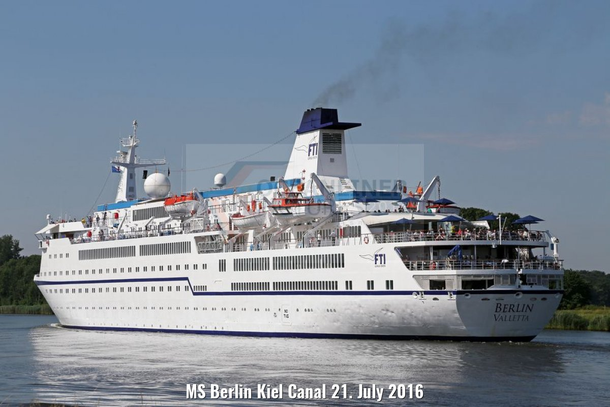 MS Berlin Kiel Canal 21. July 2016
