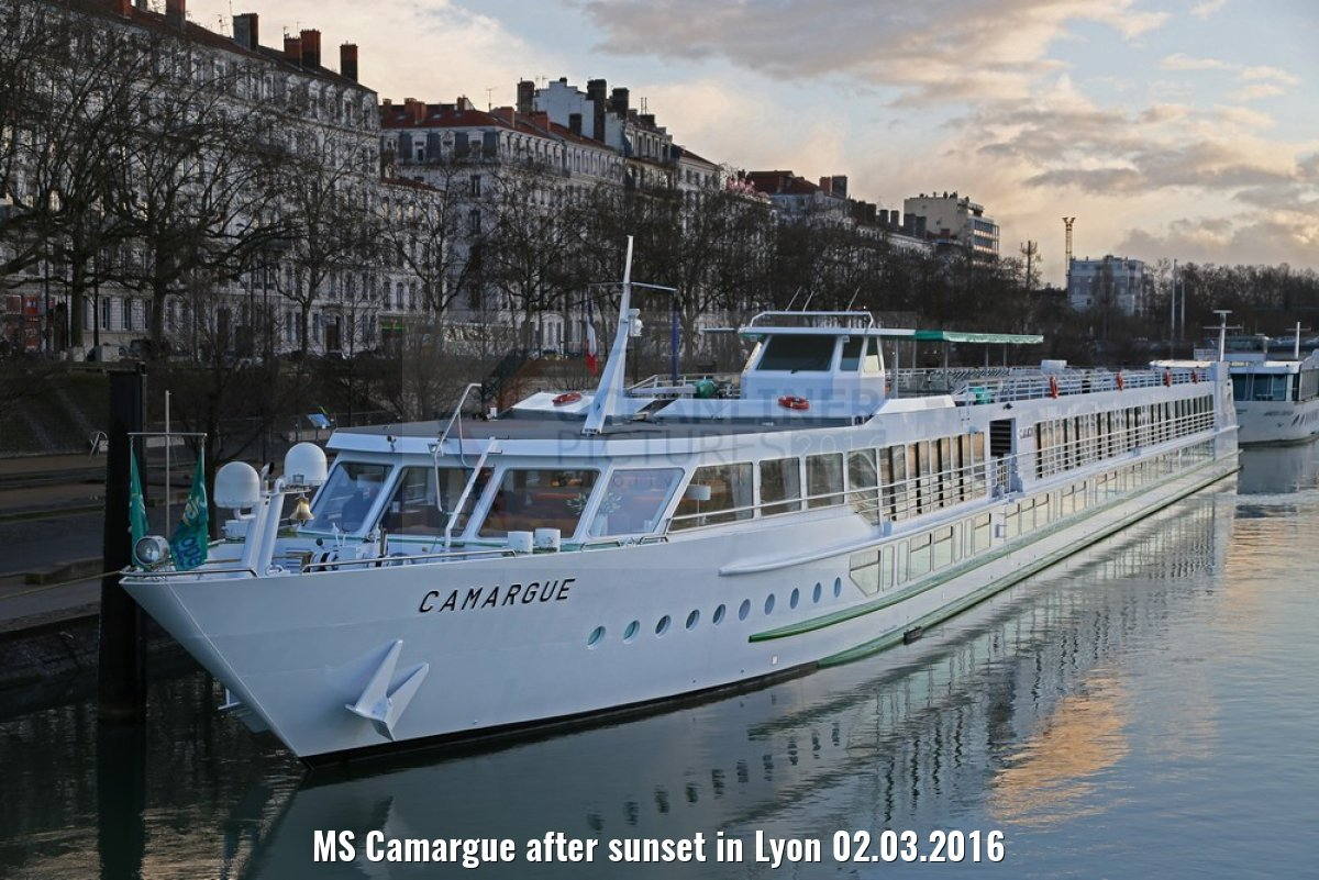 MS Camargue after sunset in Lyon 02.03.2016