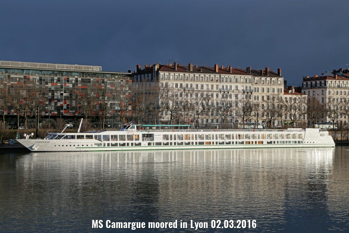 MS Camargue moored in Lyon 02.03.2016