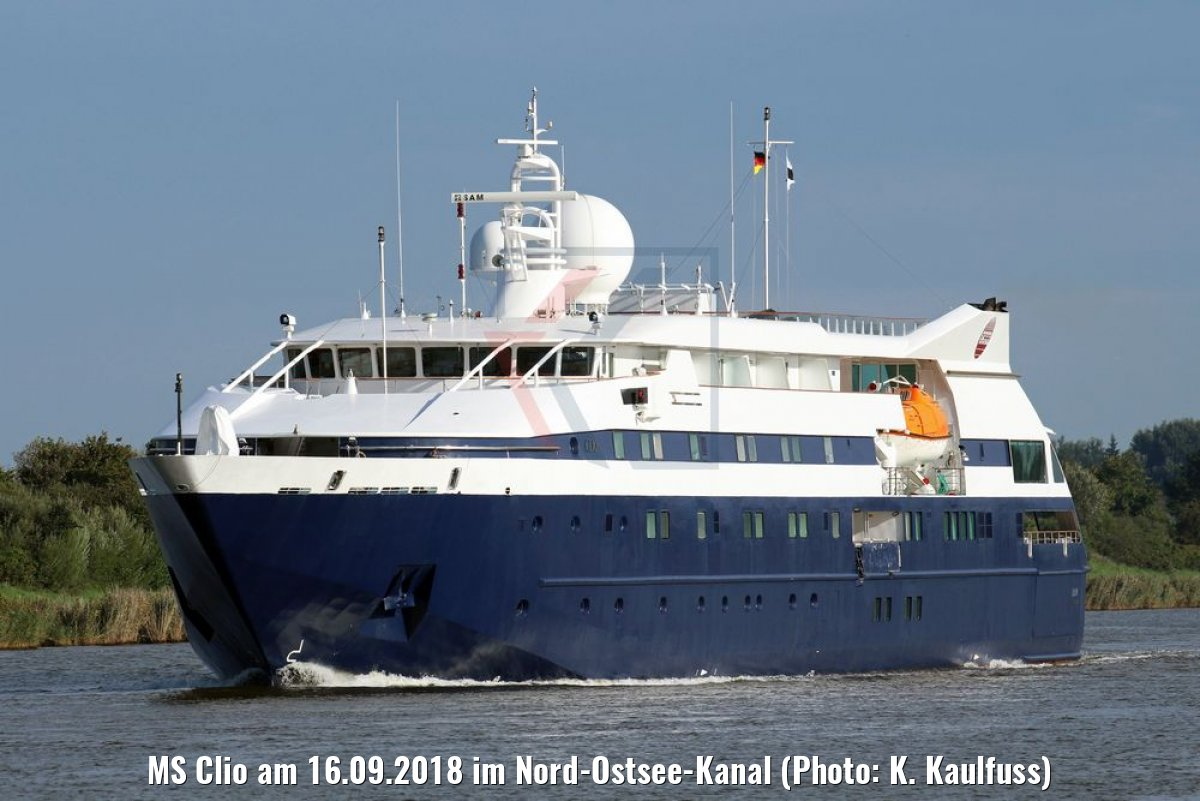 MS Clio am 16.09.2018 im Nord-Ostsee-Kanal (Photo: K. Kaulfuss)