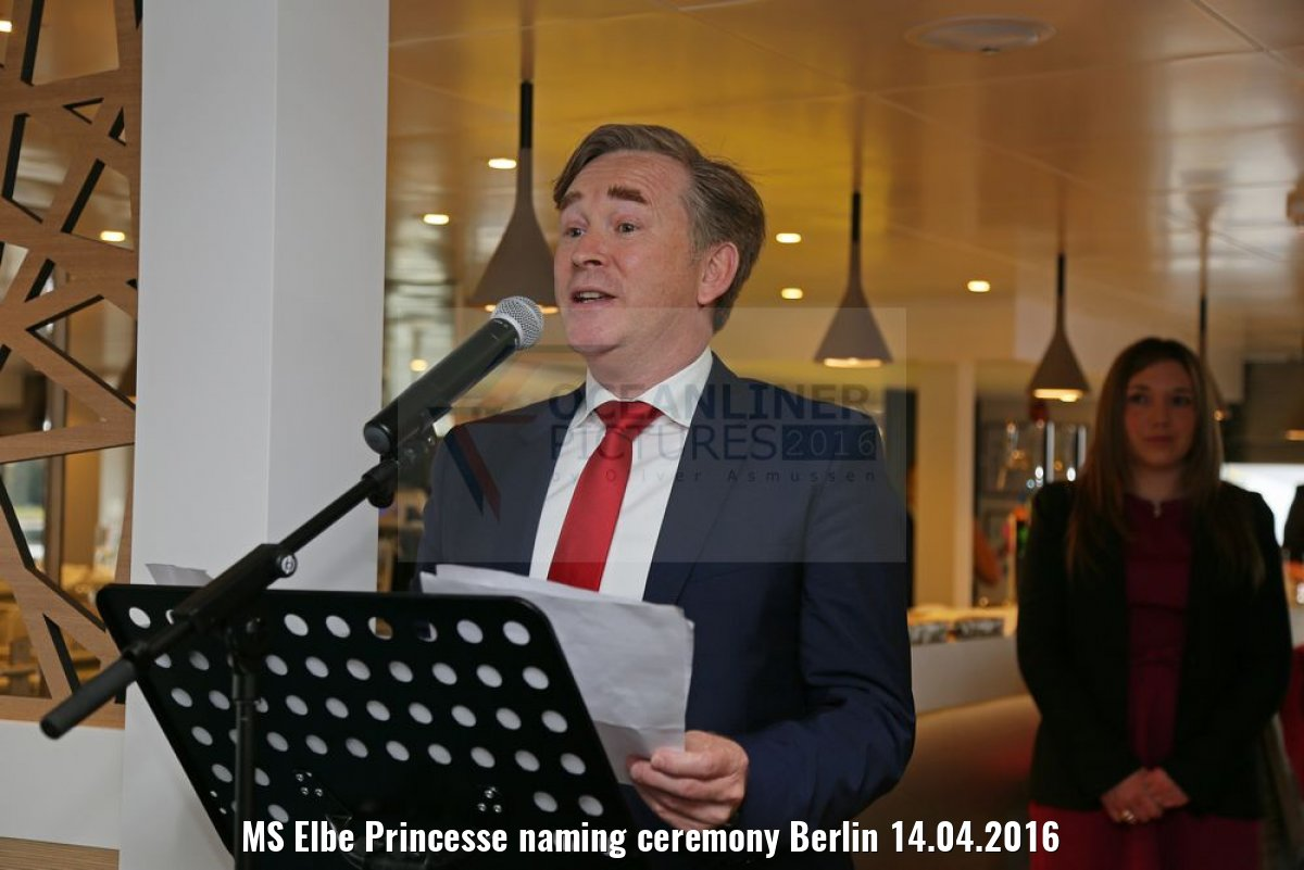 MS Elbe Princesse naming ceremony Berlin 14.04.2016