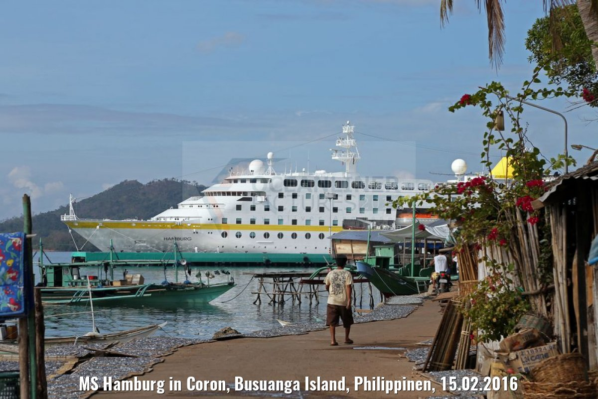 MS Hamburg in Coron, Busuanga Island, Philippinen, 15.02.2016