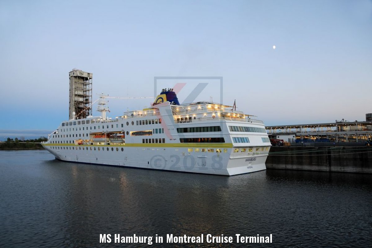 MS Hamburg in Montreal Cruise Terminal