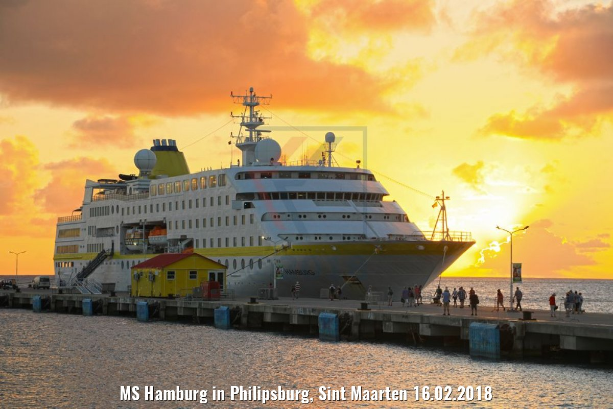 MS Hamburg in Philipsburg, Sint Maarten 16.02.2018