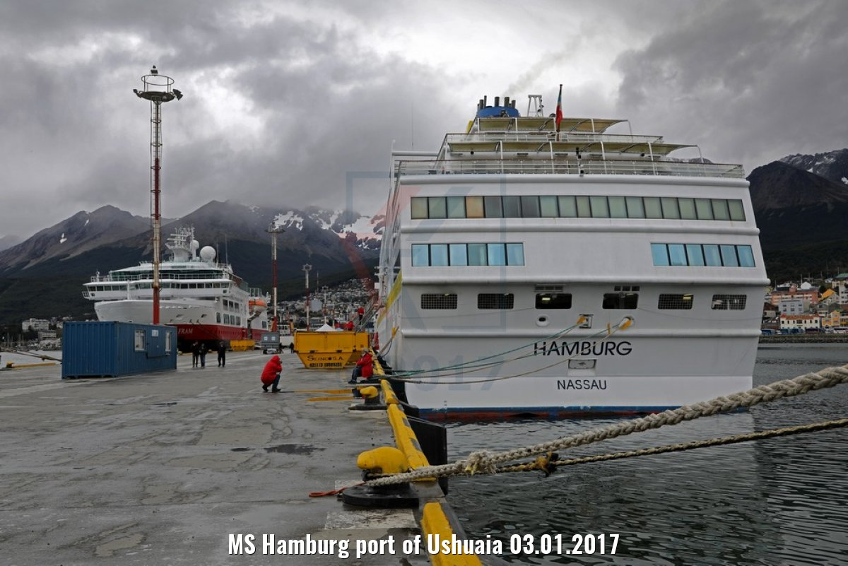 MS Hamburg port of Ushuaia 03.01.2017