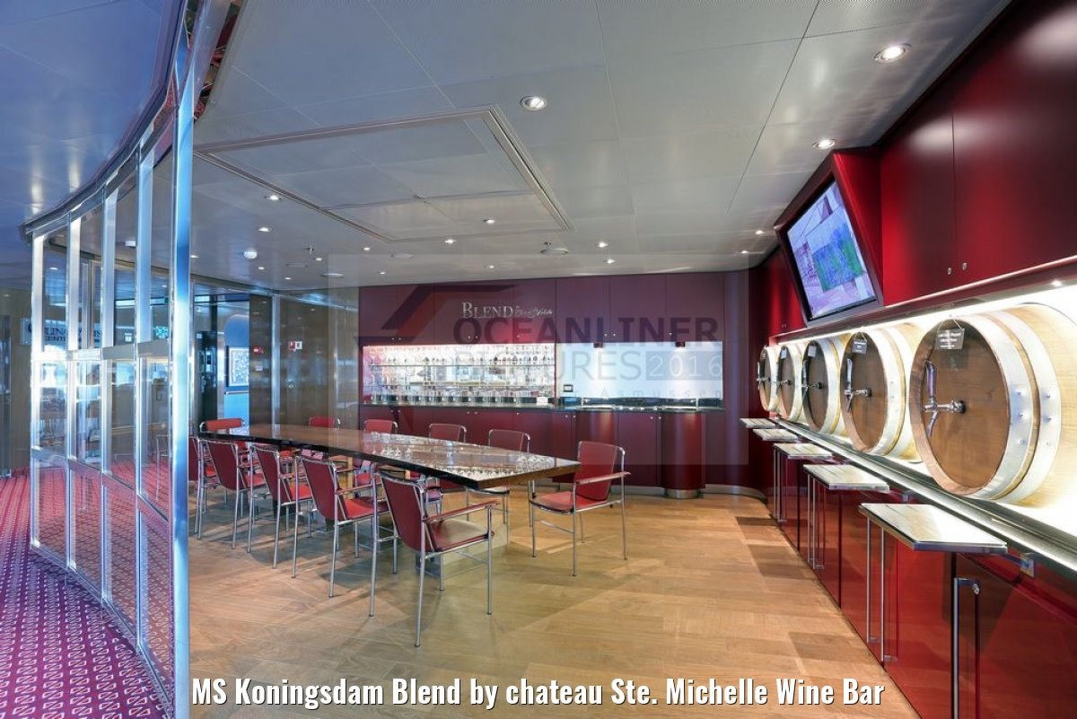 MS Koningsdam Blend by chateau Ste. Michelle Wine Bar