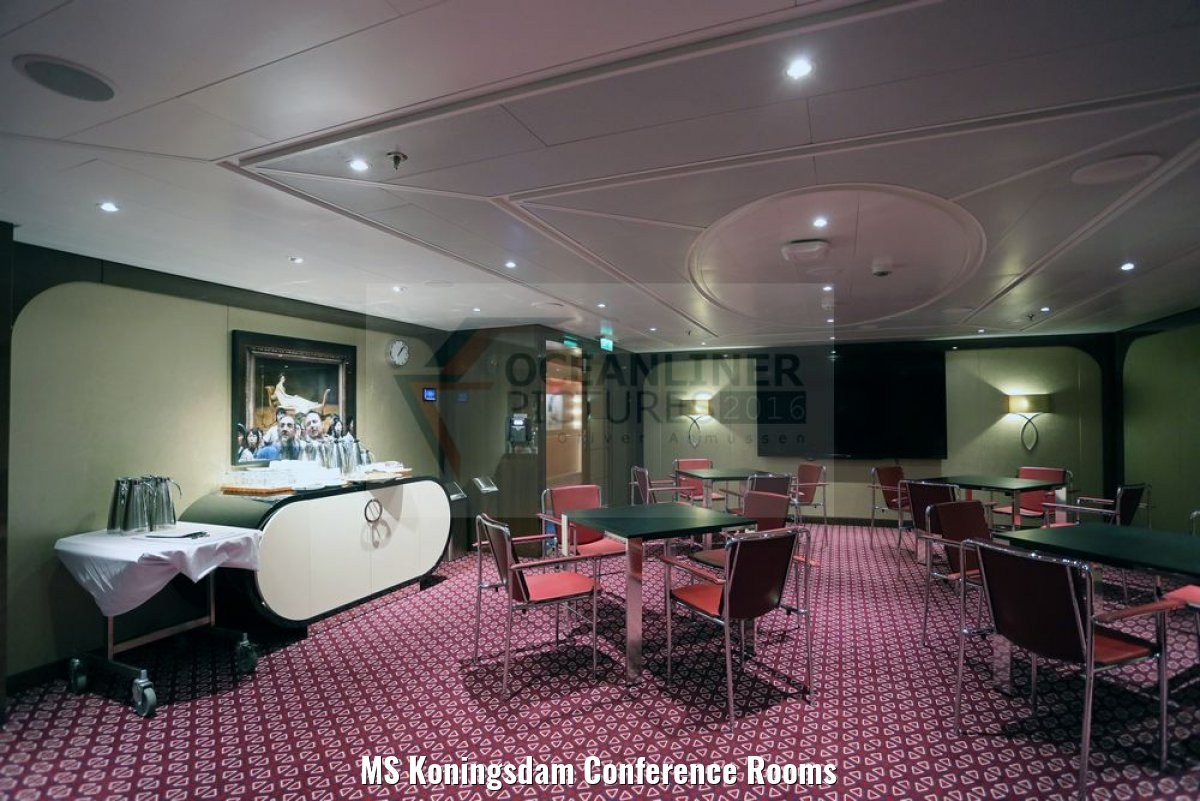 MS Koningsdam Conference Rooms