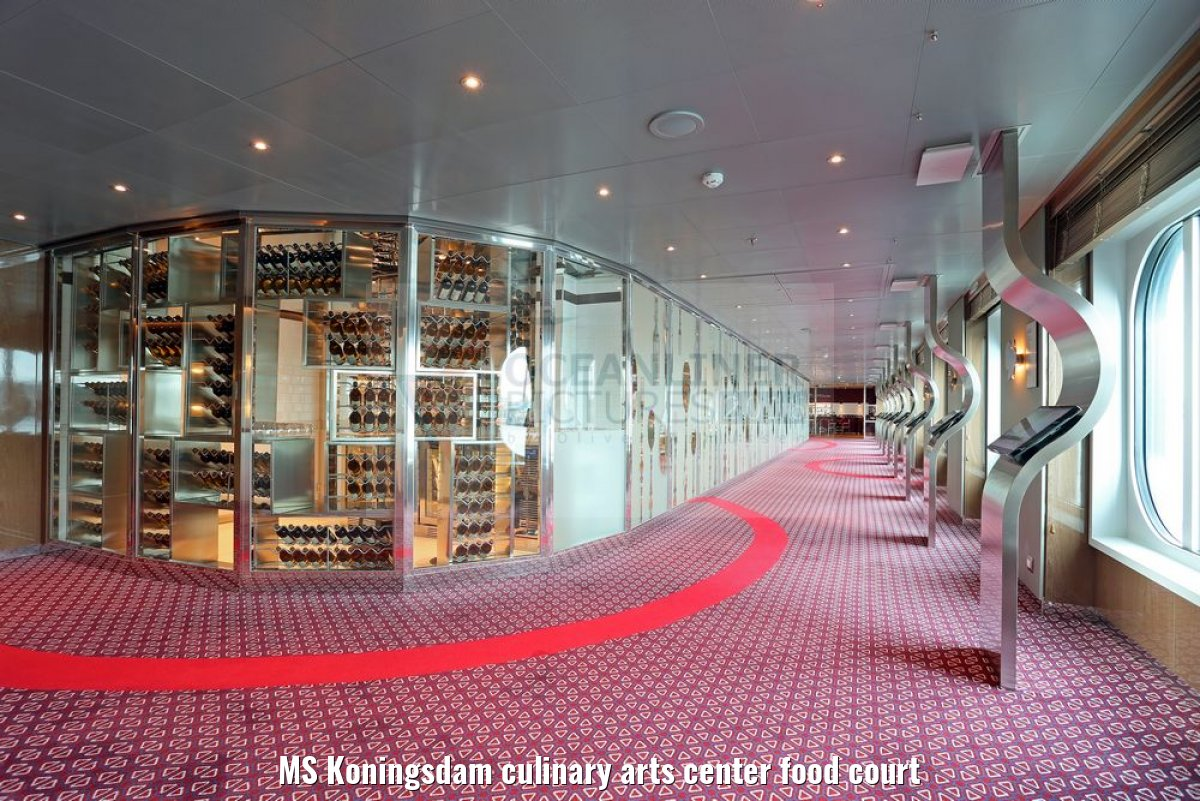 MS Koningsdam culinary arts center food court