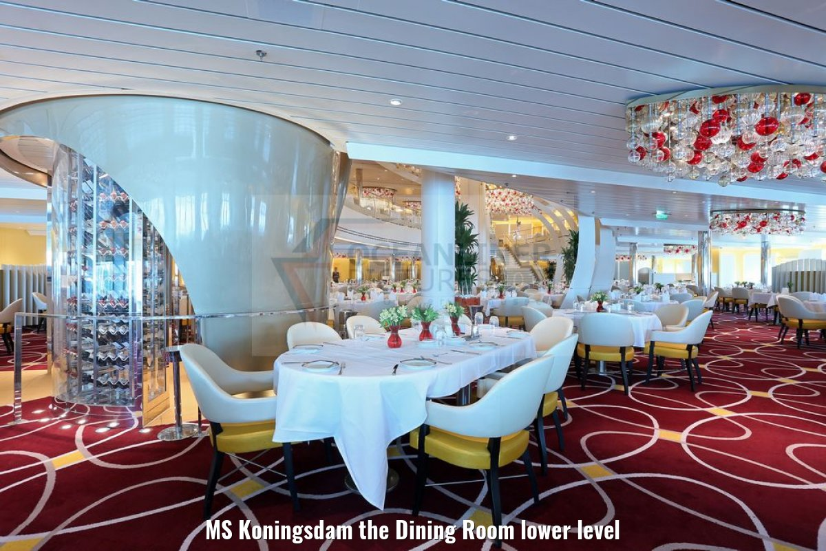MS Koningsdam the Dining Room lower level