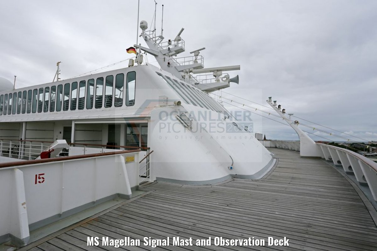MS Magellan Signal Mast and Observation Deck