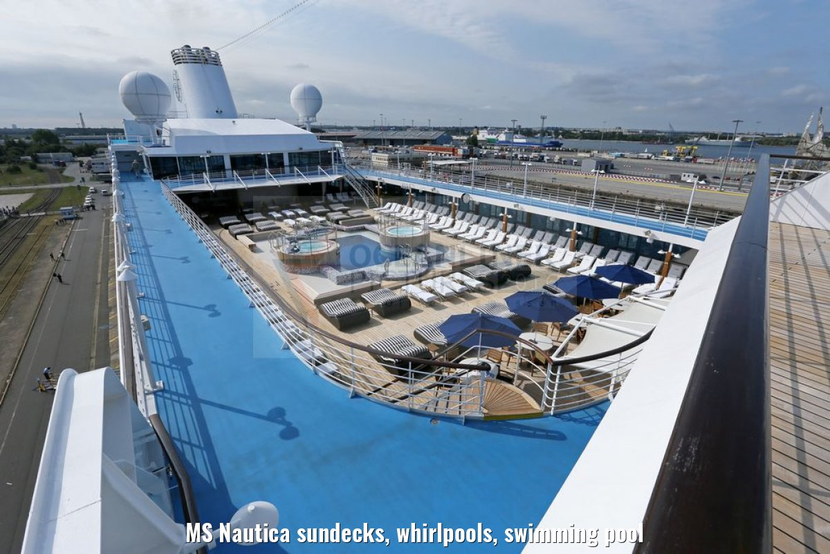 MS Nautica sundecks, whirlpools, swimming pool
