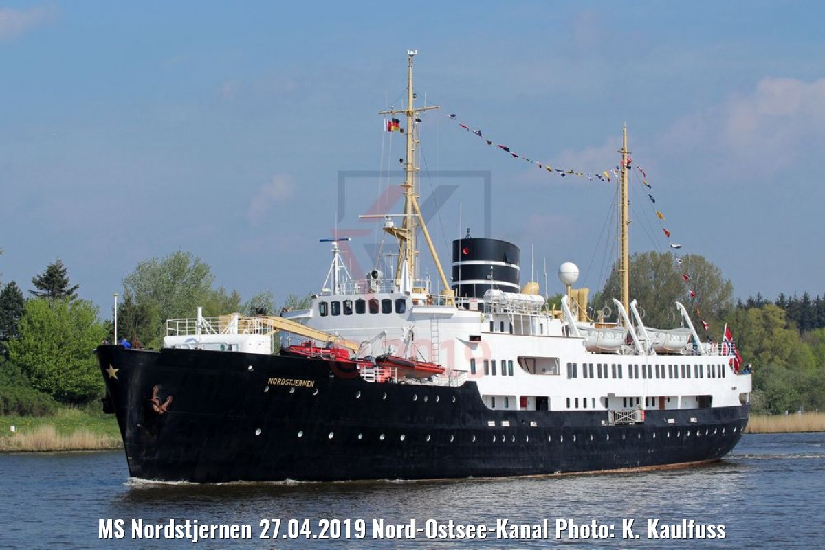 MS Nordstjernen 27.04.2019 Nord-Ostsee-Kanal Photo: K. Kaulfuss