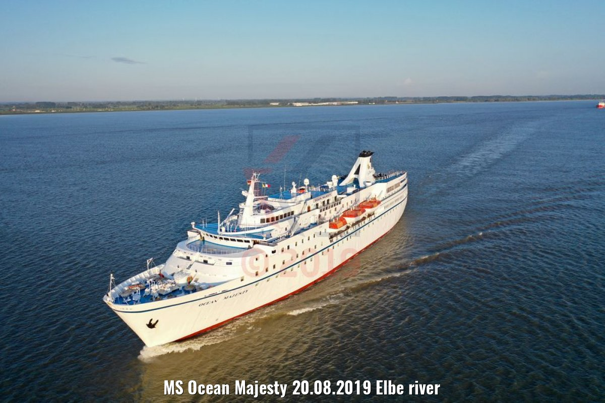 MS Ocean Majesty 20.08.2019 Elbe river