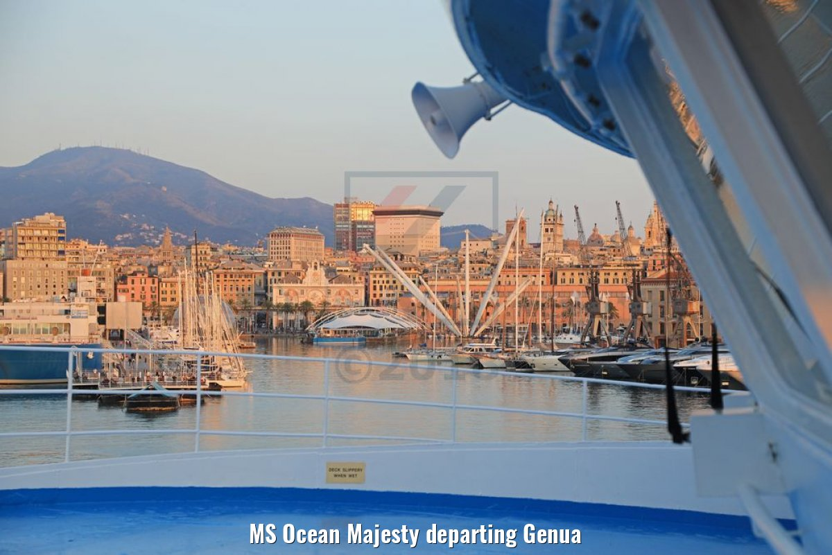 MS Ocean Majesty departing Genua