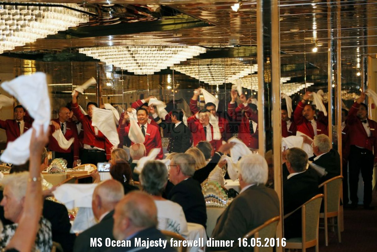 MS Ocean Majesty farewell dinner 16.05.2016