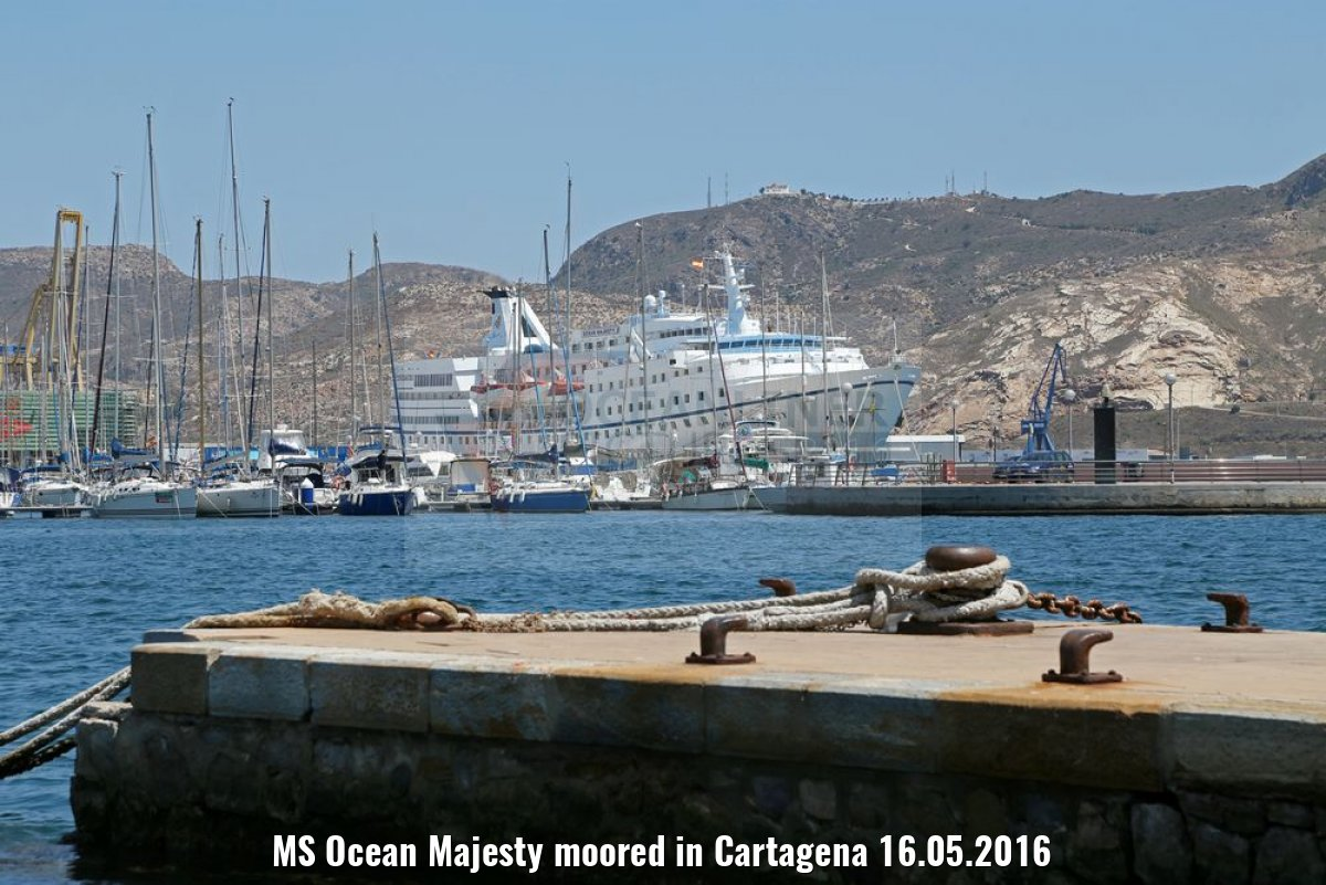 MS Ocean Majesty moored in Cartagena 16.05.2016