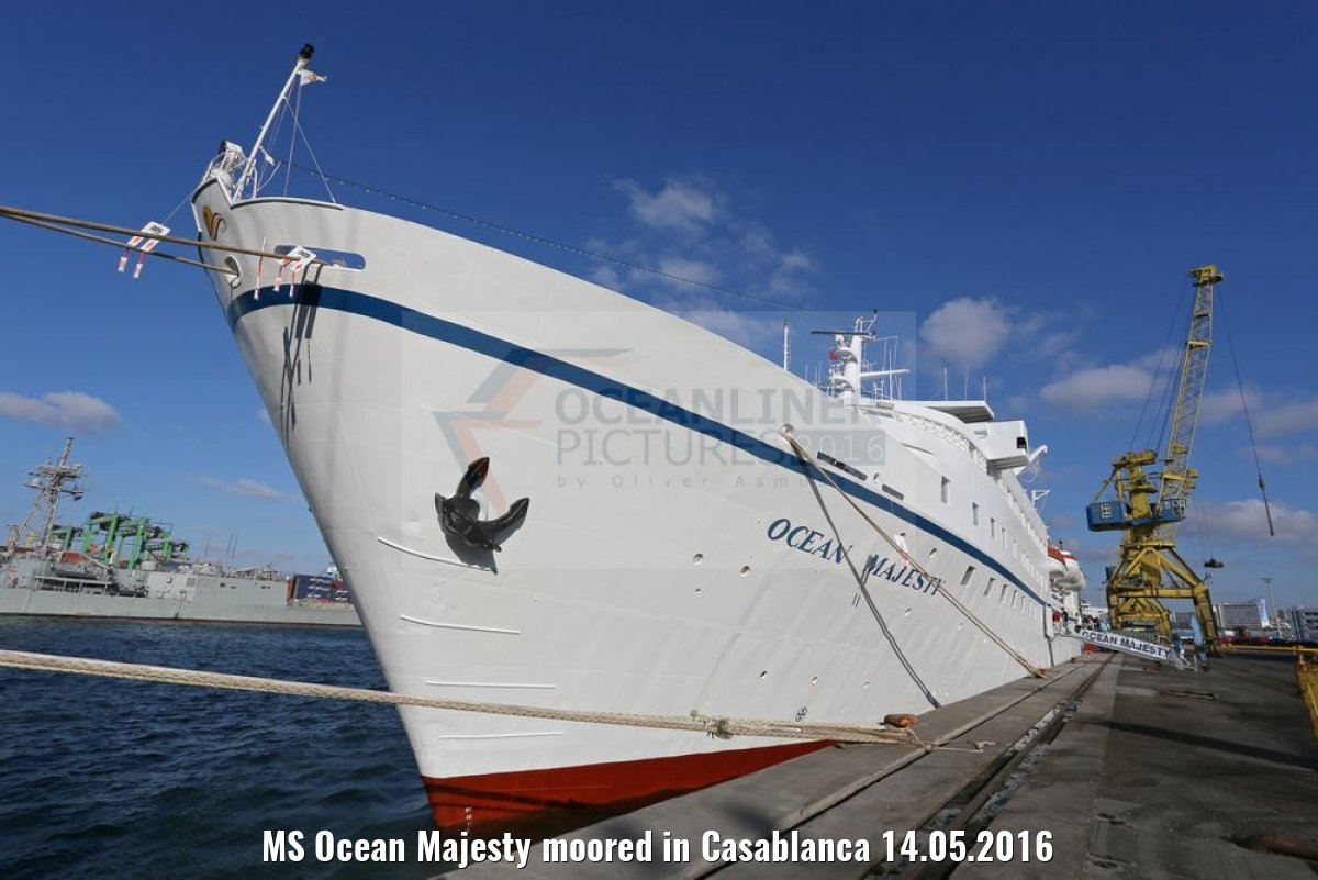 MS Ocean Majesty moored in Casablanca 14.05.2016