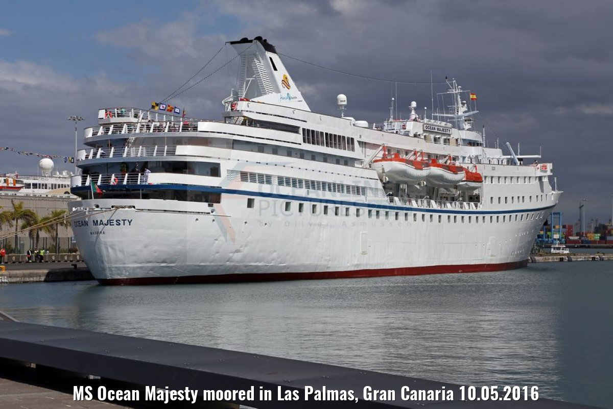 MS Ocean Majesty moored in Las Palmas, Gran Canaria 10.05.2016