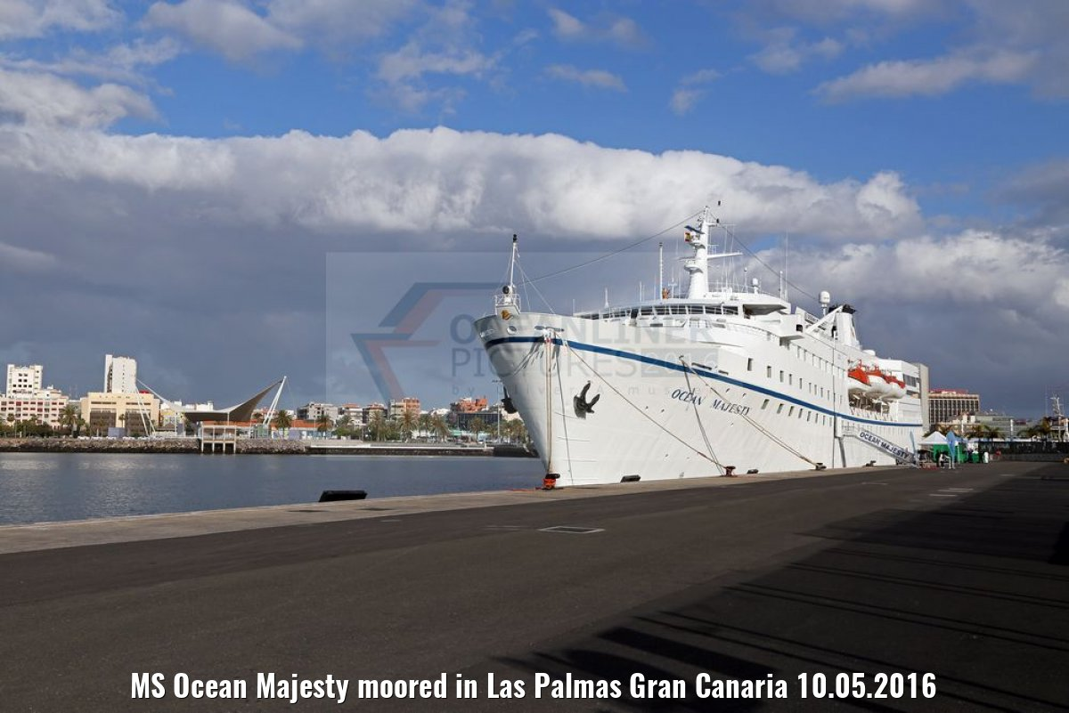 MS Ocean Majesty moored in Las Palmas Gran Canaria 10.05.2016