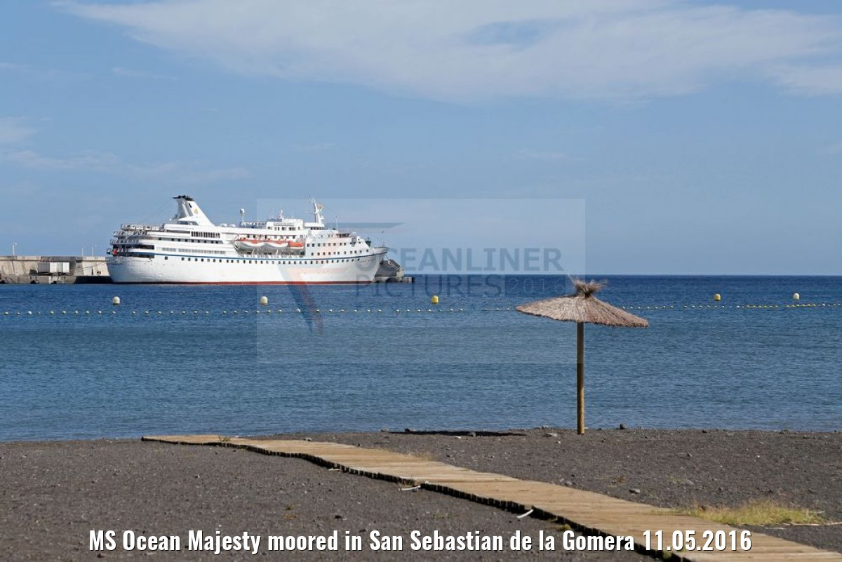 MS Ocean Majesty moored in San Sebastian de la Gomera 11.05.2016