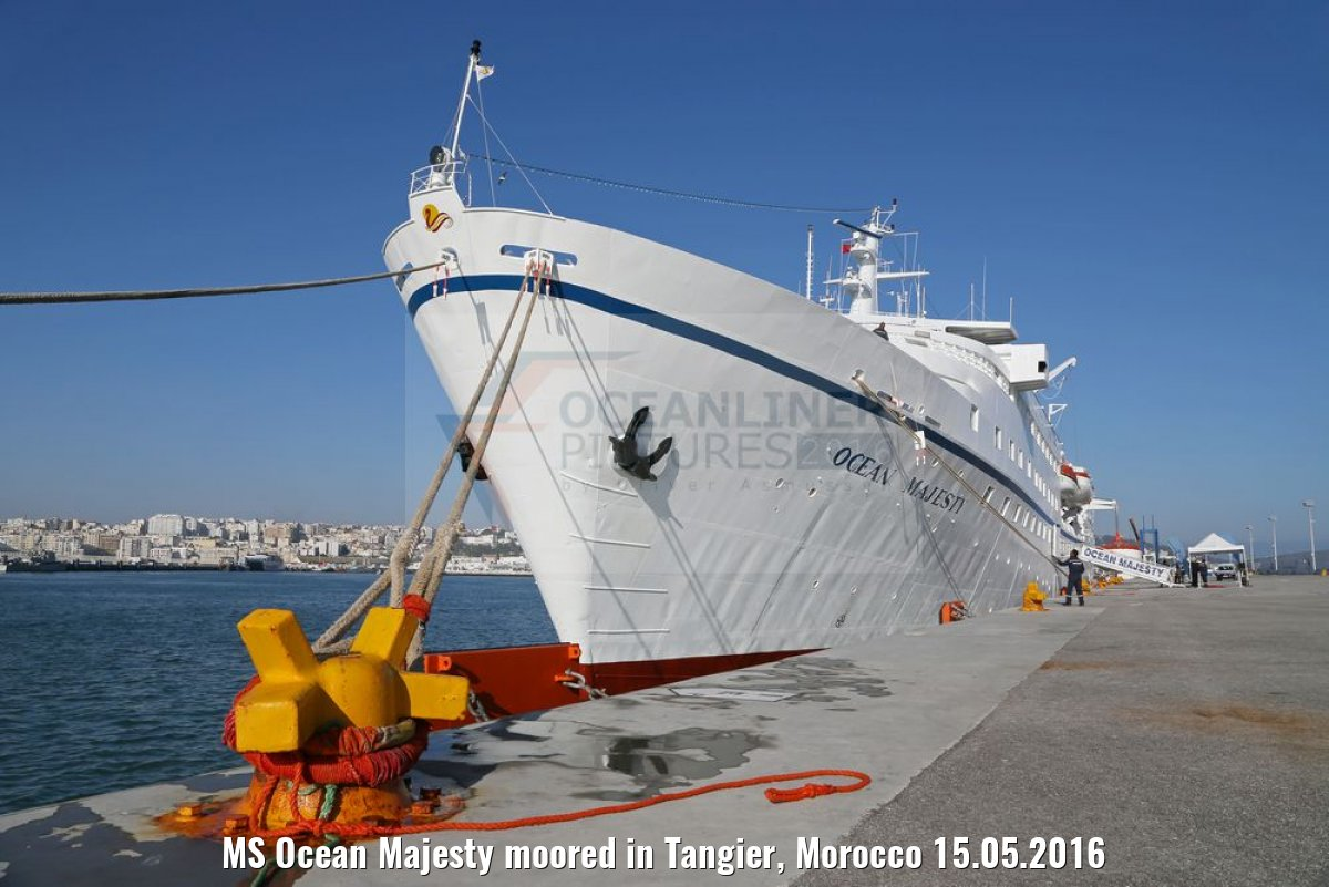 MS Ocean Majesty moored in Tangier, Morocco 15.05.2016
