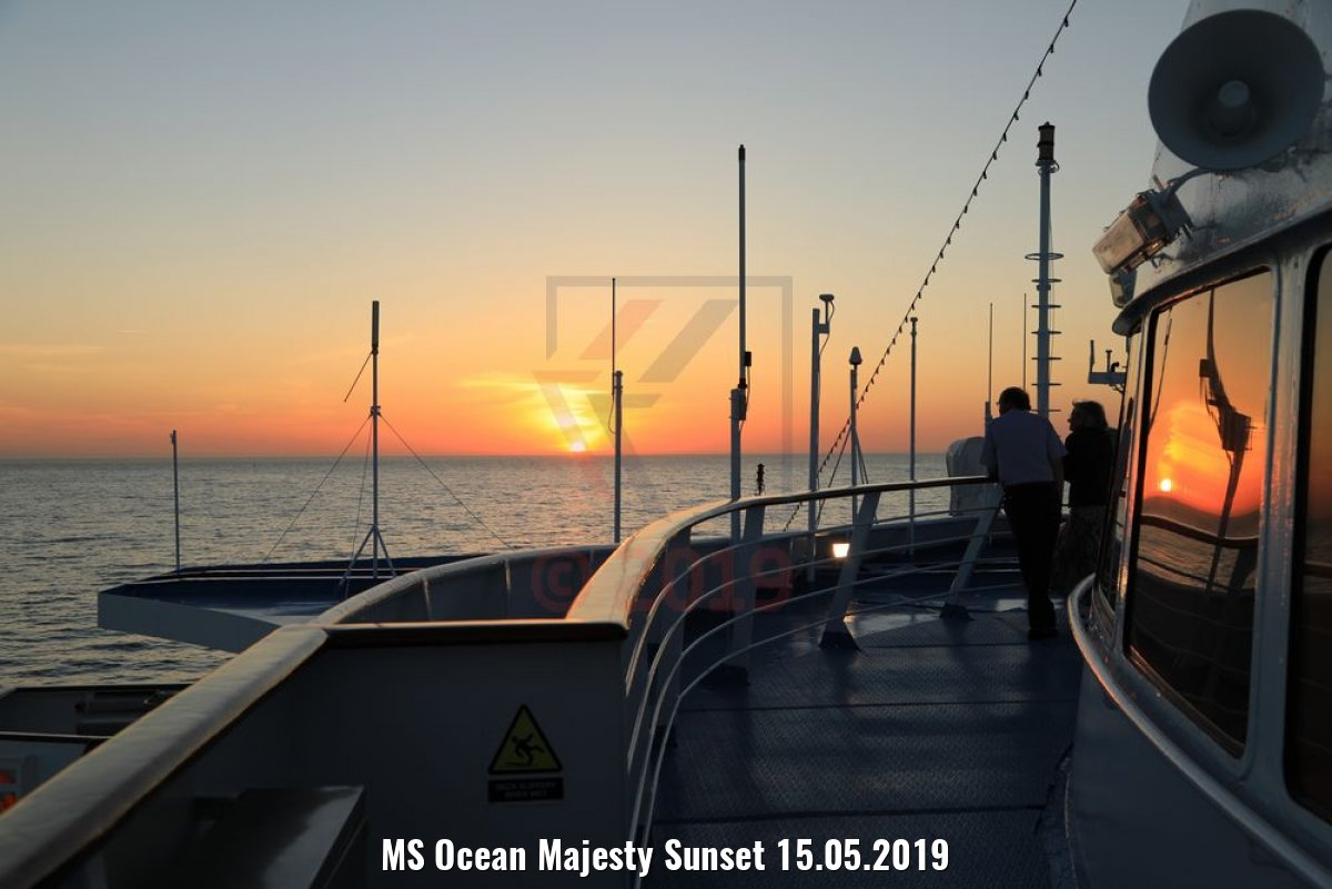 MS Ocean Majesty Sunset 15.05.2019
