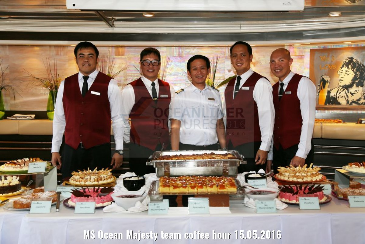 MS Ocean Majesty team coffee hour 15.05.2016