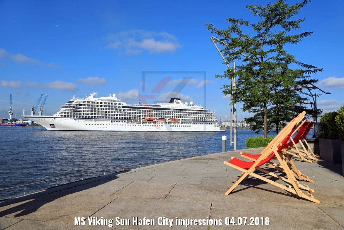MS Viking Sun Hafen City impressions 04.07.2018