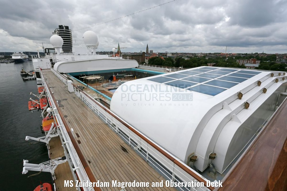 MS Zuiderdam Magrodome and Observation Deck