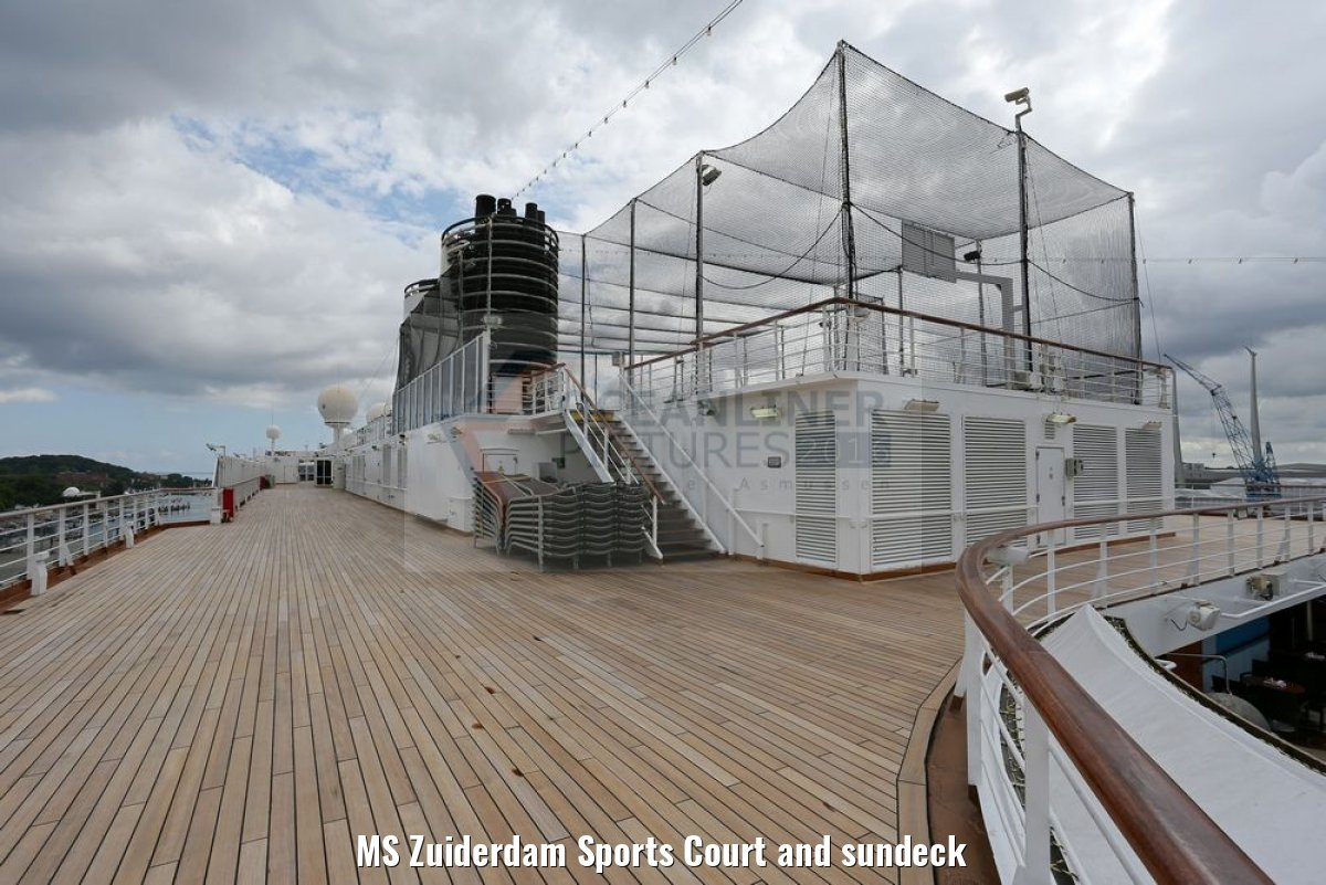 MS Zuiderdam Sports Court and sundeck