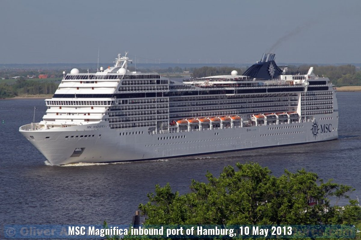 MSC Magnifica inbound port of Hamburg, 10 May 2013