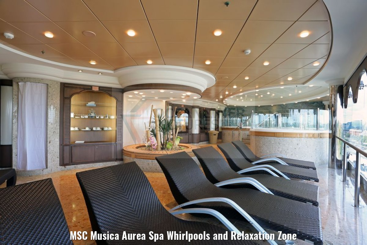 MSC Musica Aurea Spa Whirlpools and Relaxation Zone