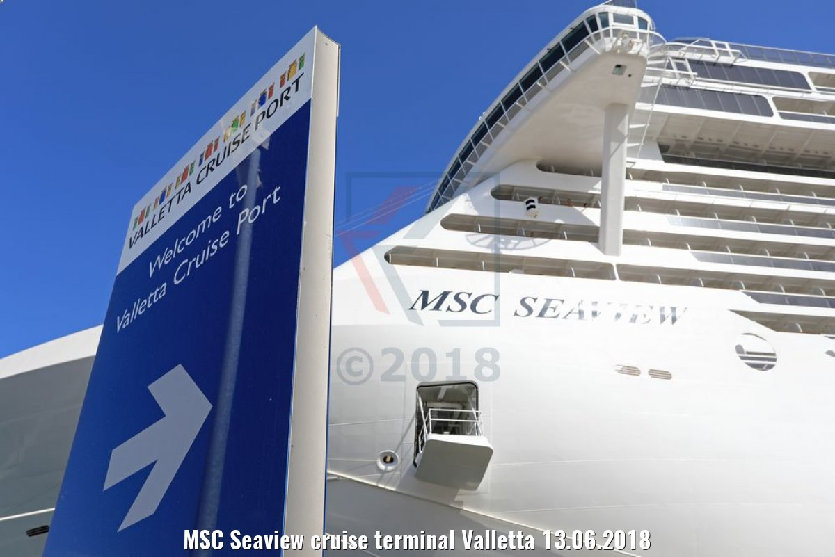 MSC Seaview cruise terminal Valletta 13.06.2018